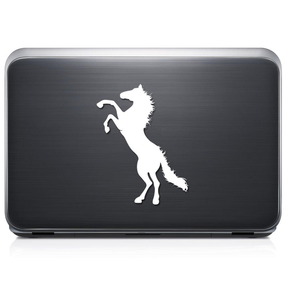 Horse Wild Stallion取り外し可能なビニールデカールステッカーforラップトップタブレットWindows壁装飾車トラックオートバイヘルメット (12 in / 30 cm) Tall RSAN117-12MWH (12 in / 30 cm) Tall グロスホワイト B075LPBFKF