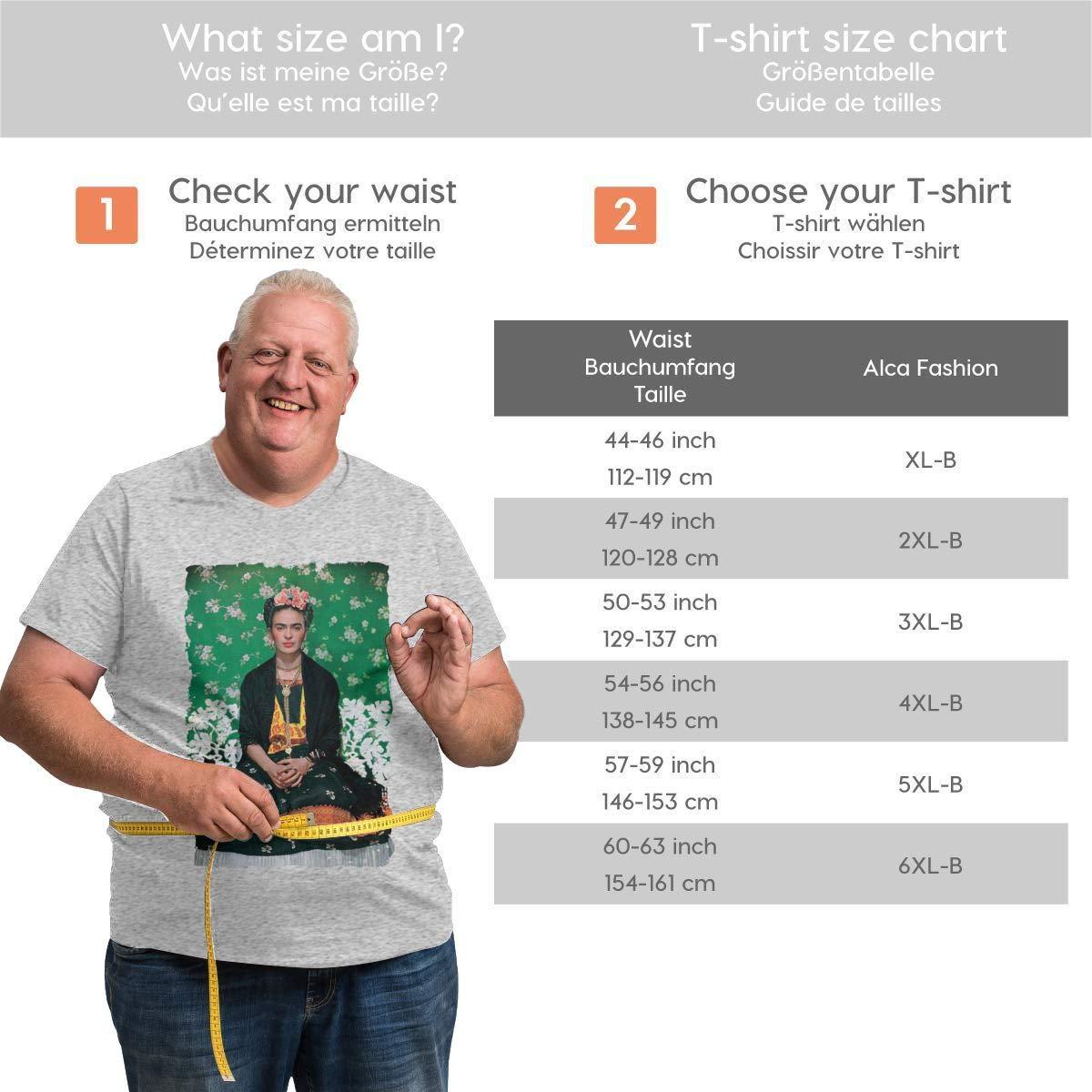 Nanatang Frida Kahlo Mens Short Sleeve Round Neck Big Size ShirtCasual Gray