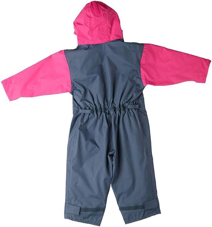Togz 9-12 mth Navy//Pink Fleece Lined Waterproof All-in-One Suit 76cm