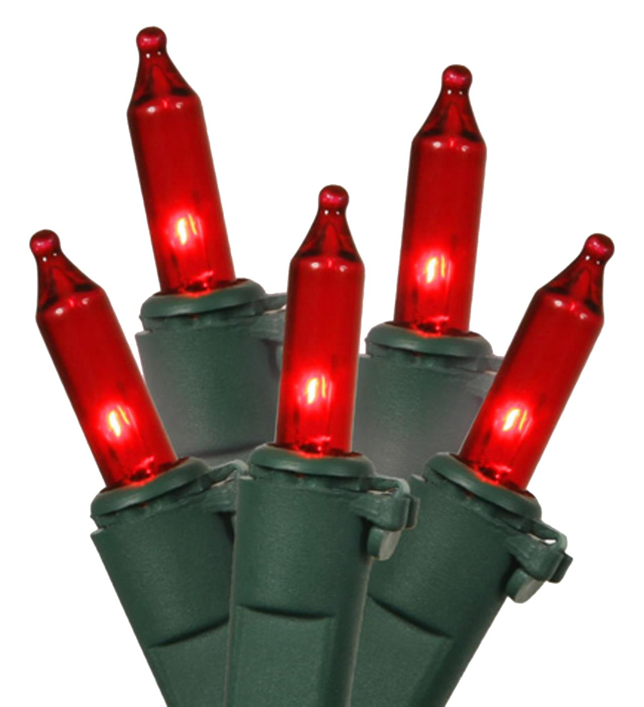 Vickerman Set of 50 Red Mini Christmas Lights - Green Wire