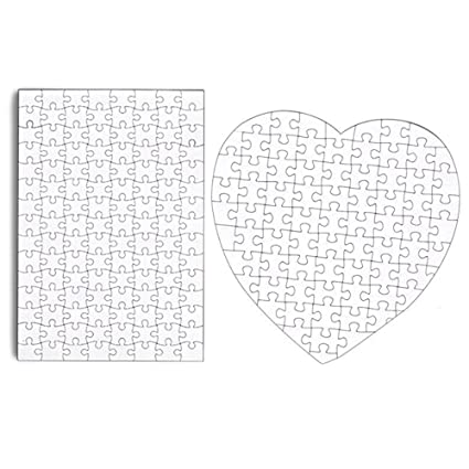 amazon com set of 4 diy white blank puzzle 11 5 x 8 create a