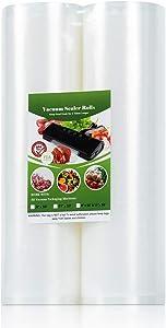 Vacuum Sealer Bags Rolls, 2 Pack Food Storage Saver Bags Rolls 11
