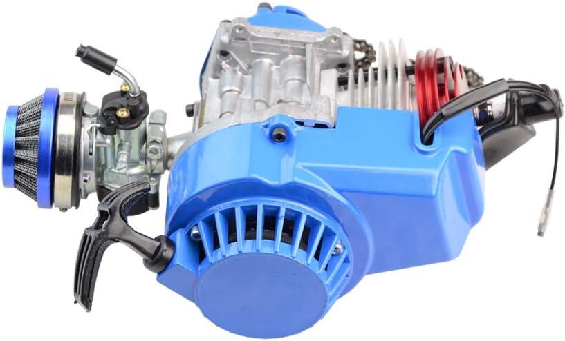 GOOFIT Blue Aluminum Pull Starter Start for 2 Stroke 47cc 49cc Pocket Bike Mini Bike Dirt Bike