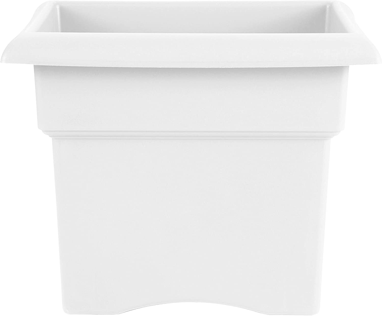 "Bloem VER1409 Veranda Deck Box Planter Square 14"" Casper White"
