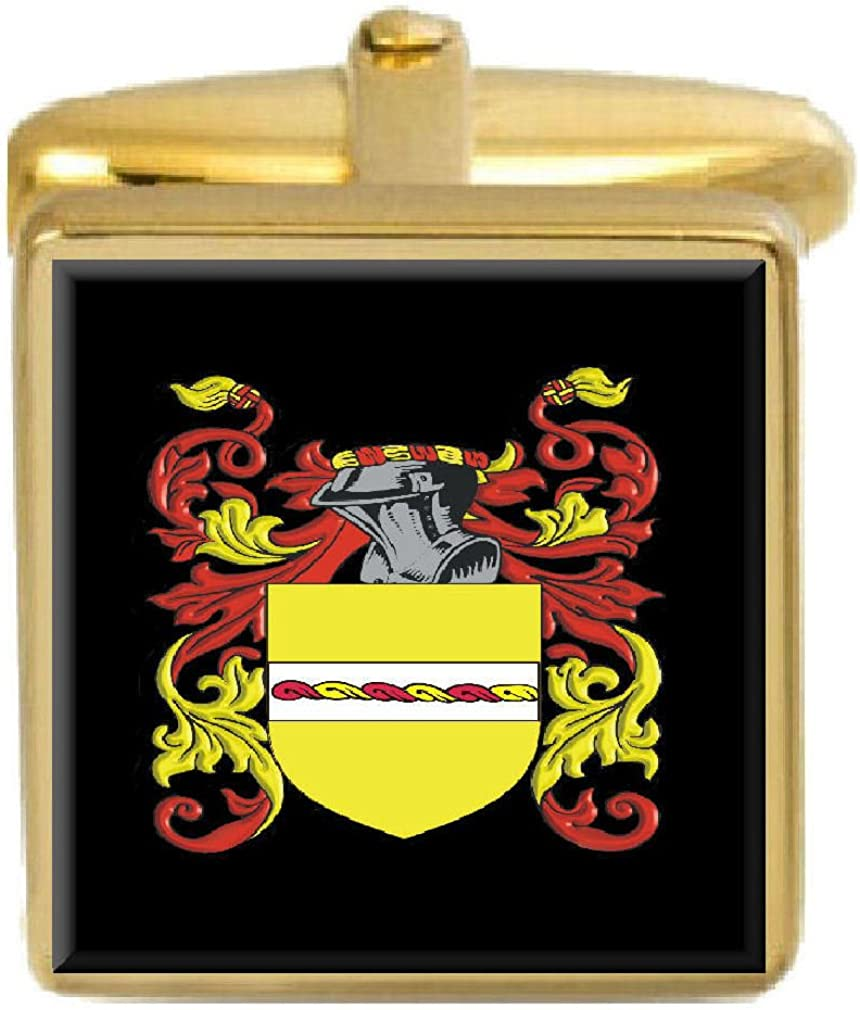 Select Gifts Mclennan Scotland Family Crest Surname Coat Of Arms Gold Cufflinks Engraved Box