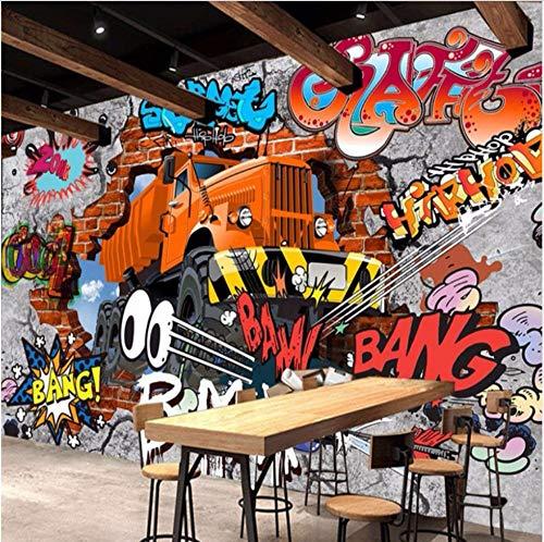 3D Decorations Murals Wall Wallpaper Stickers Big Truck Broken Kids Living Room Bedroom Studio Sofa Background Art Kids Room (W)200X(H)140Cm