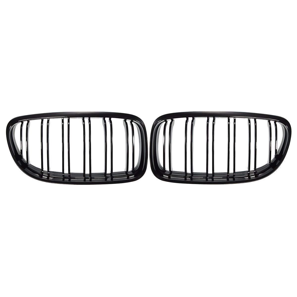 colore nero lucido per modelli E90 E91 LCI 325i 328i 335i 4D Coppia di griglie anteriori a forma di rene