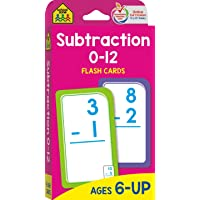 School Zone - Subtraction 0-12 Flash Cards - Ages 6 and Up, 1st Grade, 2nd Grade, Numbers 0-12, Math, Problem Solving…