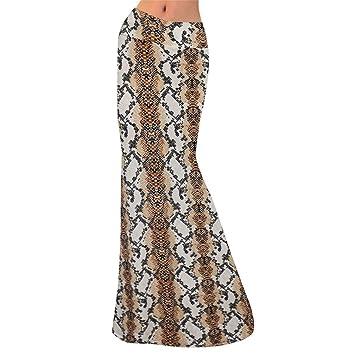 ღWave166│ Falda larga maxi para mujer, talla grande, vestido ...