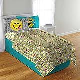 Emoji Twin Bed Sheets Emoji 3 Piece Microfiber Sheet Set with Pillowcase - Twin