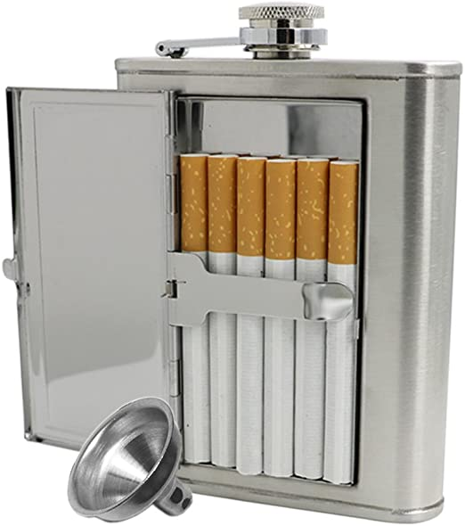 Jujor Petaca con funda integrada para cigarrillos