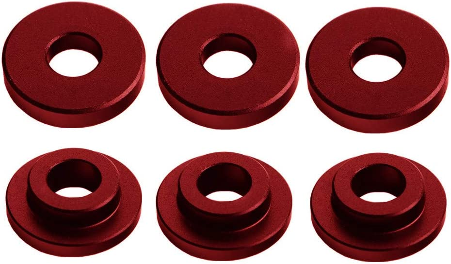 DEWHEL Shifter Cable Bracket Bushings For Ford FOCUS ST /& RS 2013-up 6 speed manual transmissions Red