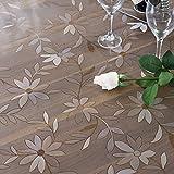 Transparent,Plastic ,Soft Glass,Waterproof,Wash Away,PVC,Table Mat-B 90x140cm(35x55inch)