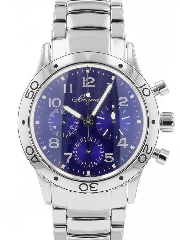 [ブレゲ] 腕時計 BREGUET 3807ST/J2/SW9 タイプXX アエロナバル ブルー文字盤 SS メンズ 自動巻き [中古品] [並行輸入品] B07BXKM1T8