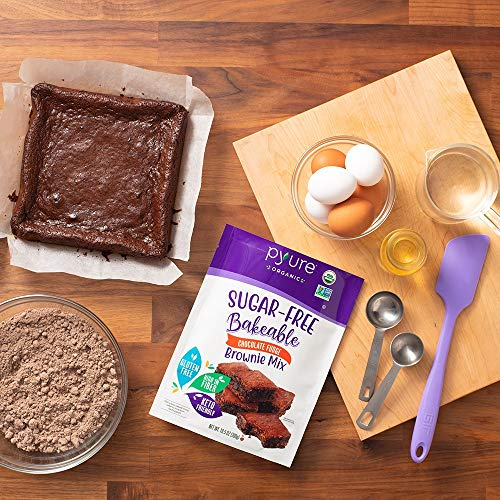 Organic Chocolate Fudge Brownie Mix by Pyure | Sugar-Free, Keto, Low Carb | Bakeables | Makes 11 Brownies 5