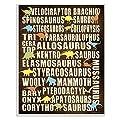 Stupell Decor Dinosaurs Chart Wall Plaque Art