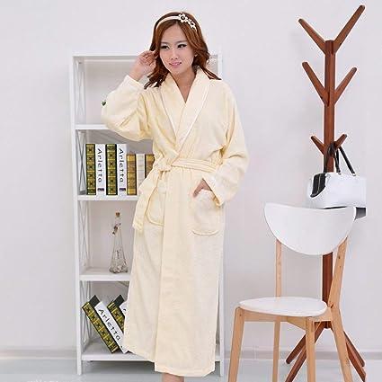 DALAI Cotton Bathrobe Robe Men and Women Adult Cotton Pajamas Autumn and Winter  Thick Couple Lovers f18b209dd