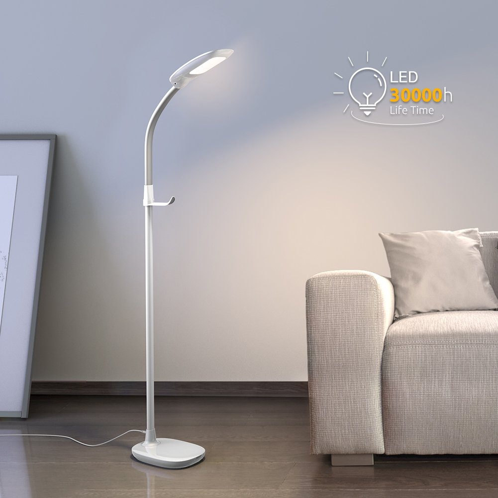 Light Store Reading Ma: Aglaia LED Reading Floor Lamp, Dimmable Standing Lamp With
