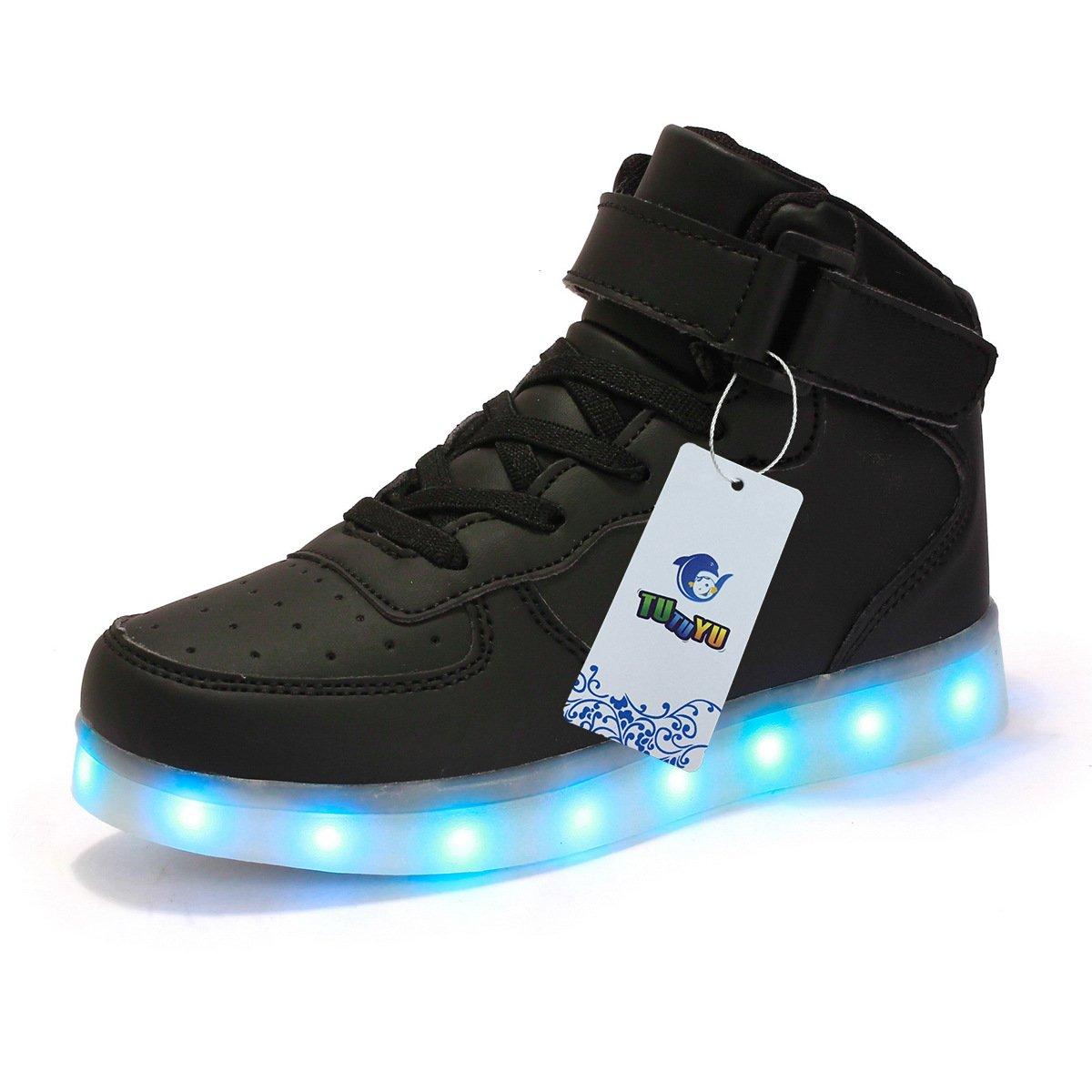 Kids 11 Colors LED Light Up Shoes High