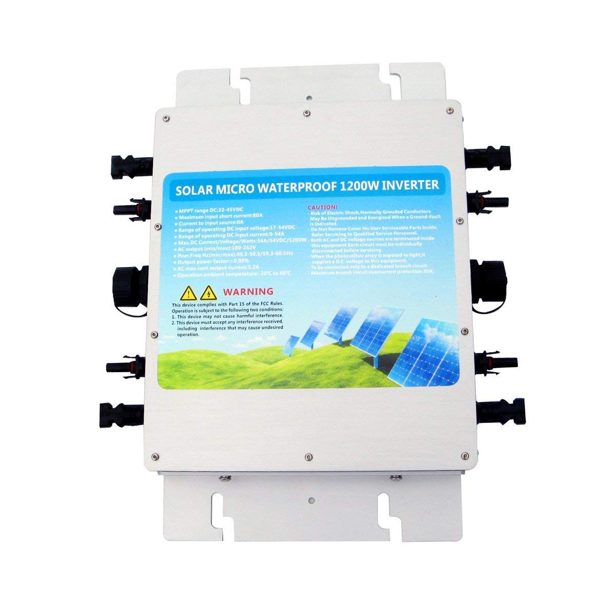 ECOWORTHY 1200W 24V-230V Waterproof On Grid Tie Power Inverter with MPPT Function for Home Solar Panel System