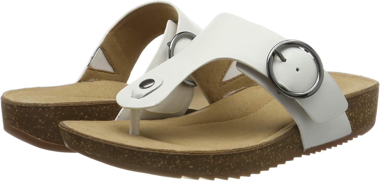 Hotter Women/'s Resort Flip Flops Off-white 7 UK Ivory
