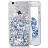 iPhone 6 Plus Case,Crazy Panda® 3D Creative Liquid Glitter Design iPhone 6 Plus Liquid Quicksand Bling Adorable flowing Floating Moving Shine Glitter Case iPhone 6 Plus/6S Plus - Silver Diamonds