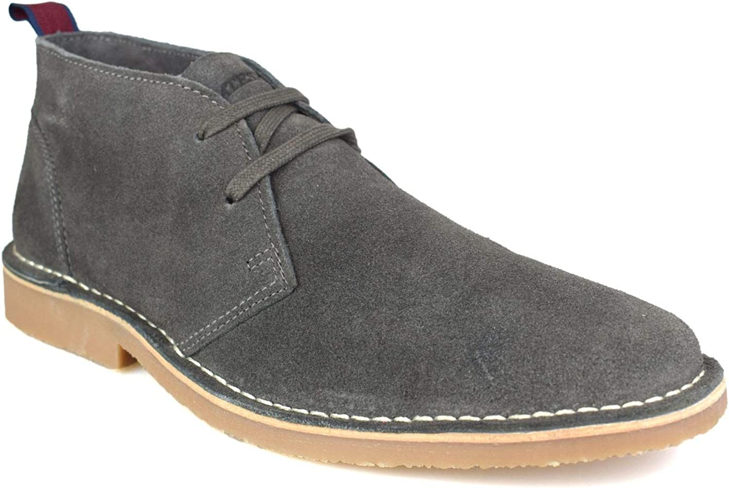 Catesby Grey Suede Mens Desert Boots
