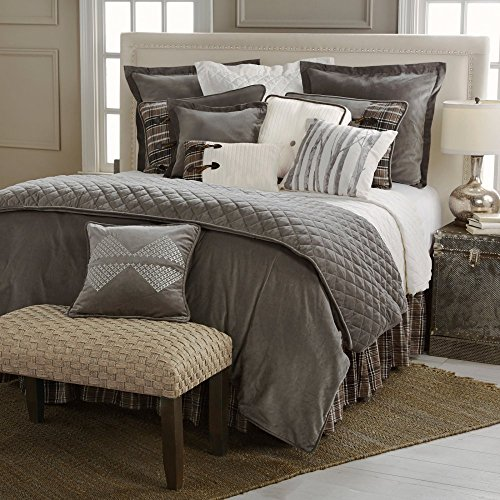 HiEnd Accents LG1895-TW-OC 3 Piece Whistler Comforter Set, Twin, Gray