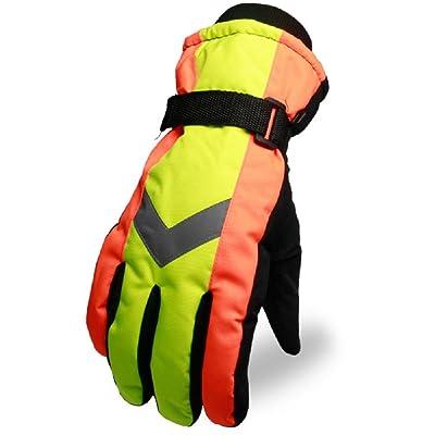 K-DD Gants chauds d'alpinisme adulte, coupe-vent extérieur, imperméable, véhicule électrique, moto et gants de ski peuvent résister au froid de -20 ° c