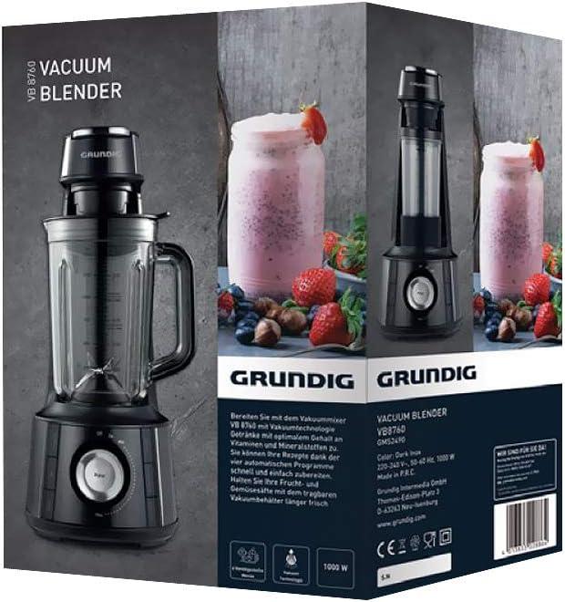 GRUNDIG GMS2490 Batidora de vacío, gris oscuro: Amazon.es: Hogar