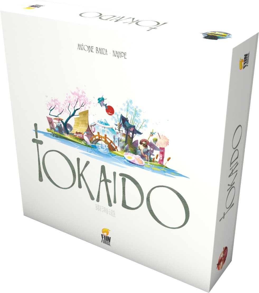 a picture of Tokaido Board game set in a white box.
