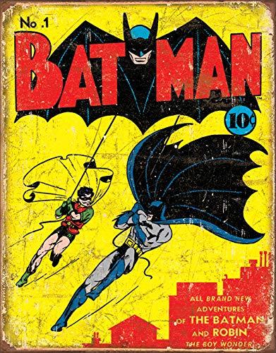 (Desperate Enterprises Batman No 1 Cover Tin Sign, 12.5