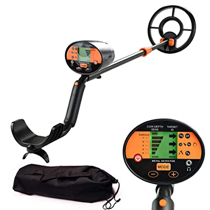 wedigout Metal Detector with Pinpointer Waterproof Search Coil Digging Tool,LCD Display(MD-