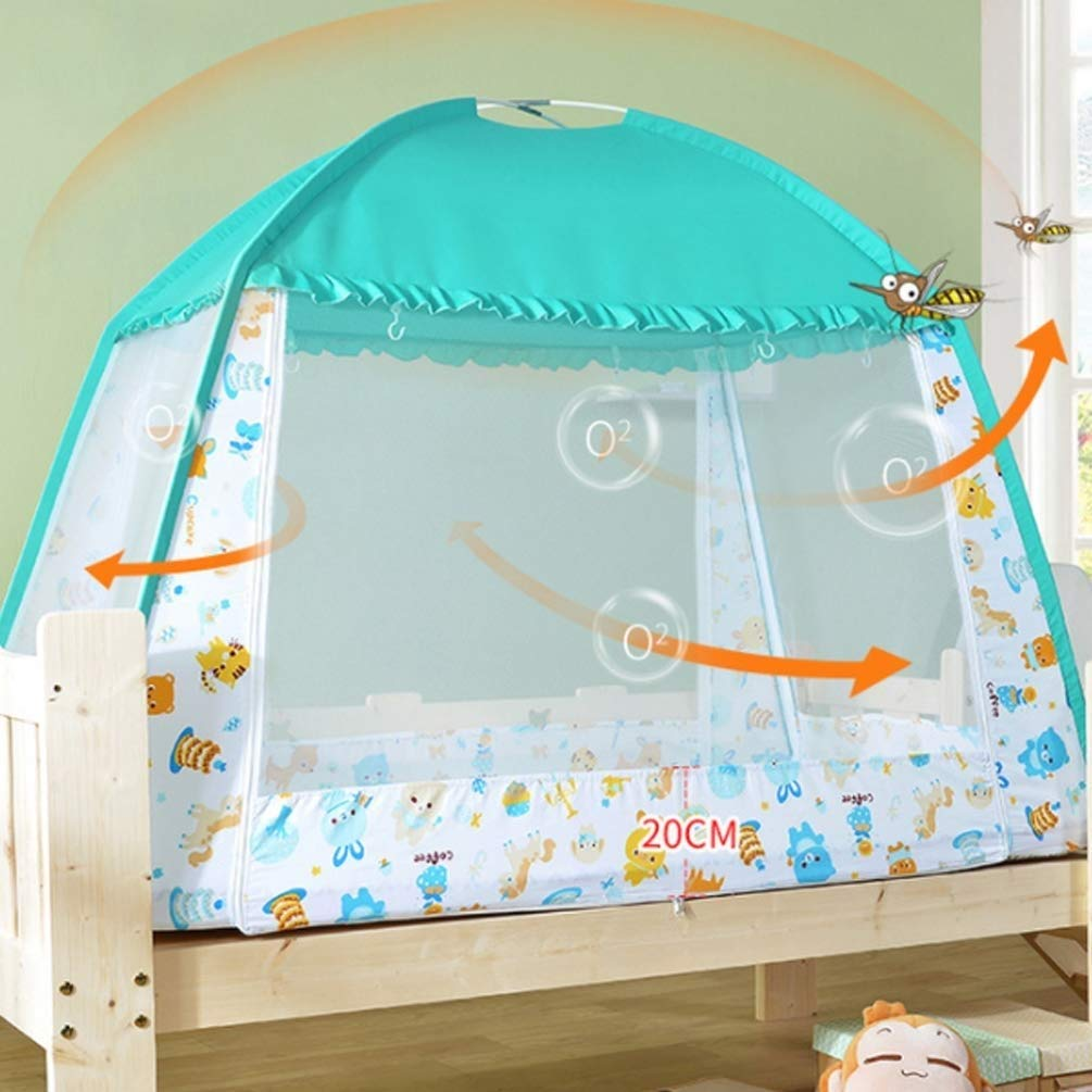 NSHUN Pop-Up Mosquito Net Tent for Beds Anti Mosquito Bites Folding Design with Net Bottom for Babys Adults Trip (Size : 1.5m) by NSHUN (Image #4)