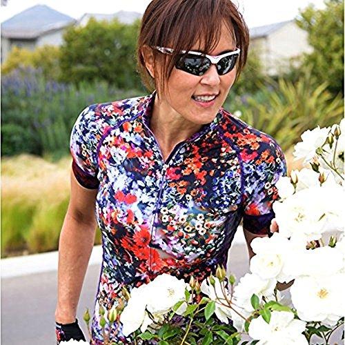 - Shebeest 2018 Women's Divine Secret Garden Short Sleeve Cycling Jersey - 3238-SG (Secret Garden-Multi - SM)