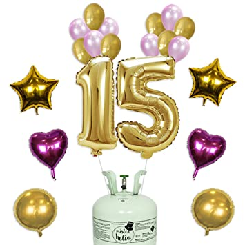 Bombona de Helio Mr. Helio+ Globos cumpleaños 15 años ...