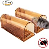 VENSMILE Humane Mouse Trap No Kill Live Mice Catch Cage (2 Pack)