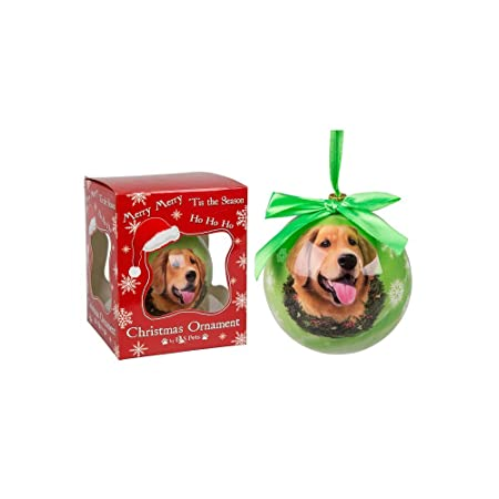 Golden Retriever Hand Crafted Christmas Bauble Dog Image