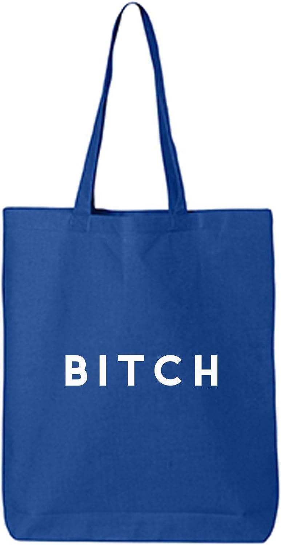 BITCH Cotton Canvas Tote Bag