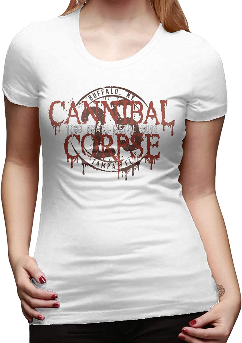 Chouven Women Print with Cannibal Corpse Crew Neck Short Sleeves T-Shirt