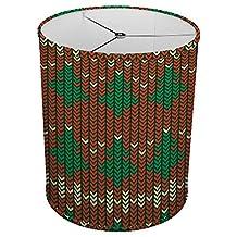 "Hardback Linen Drum Cylinder Lamp Shade 8"" x 8"" x 8"" Spider Construction [ Grandmothers Christmas Sweater ]"