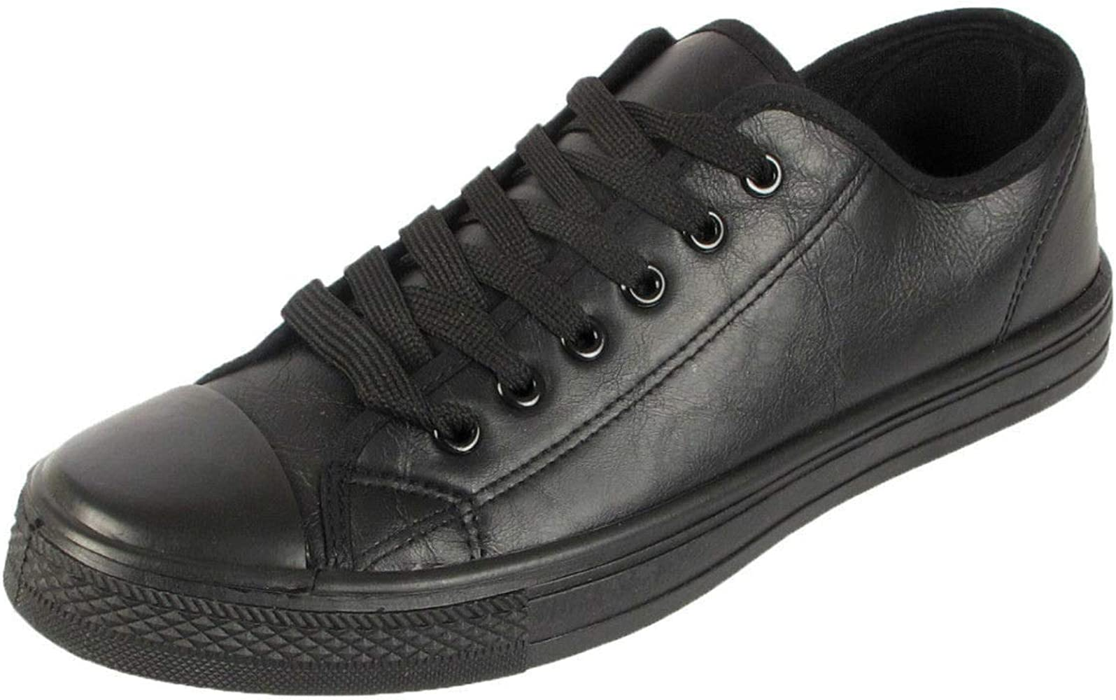 Faux Leather Lace Up Trainers Kids