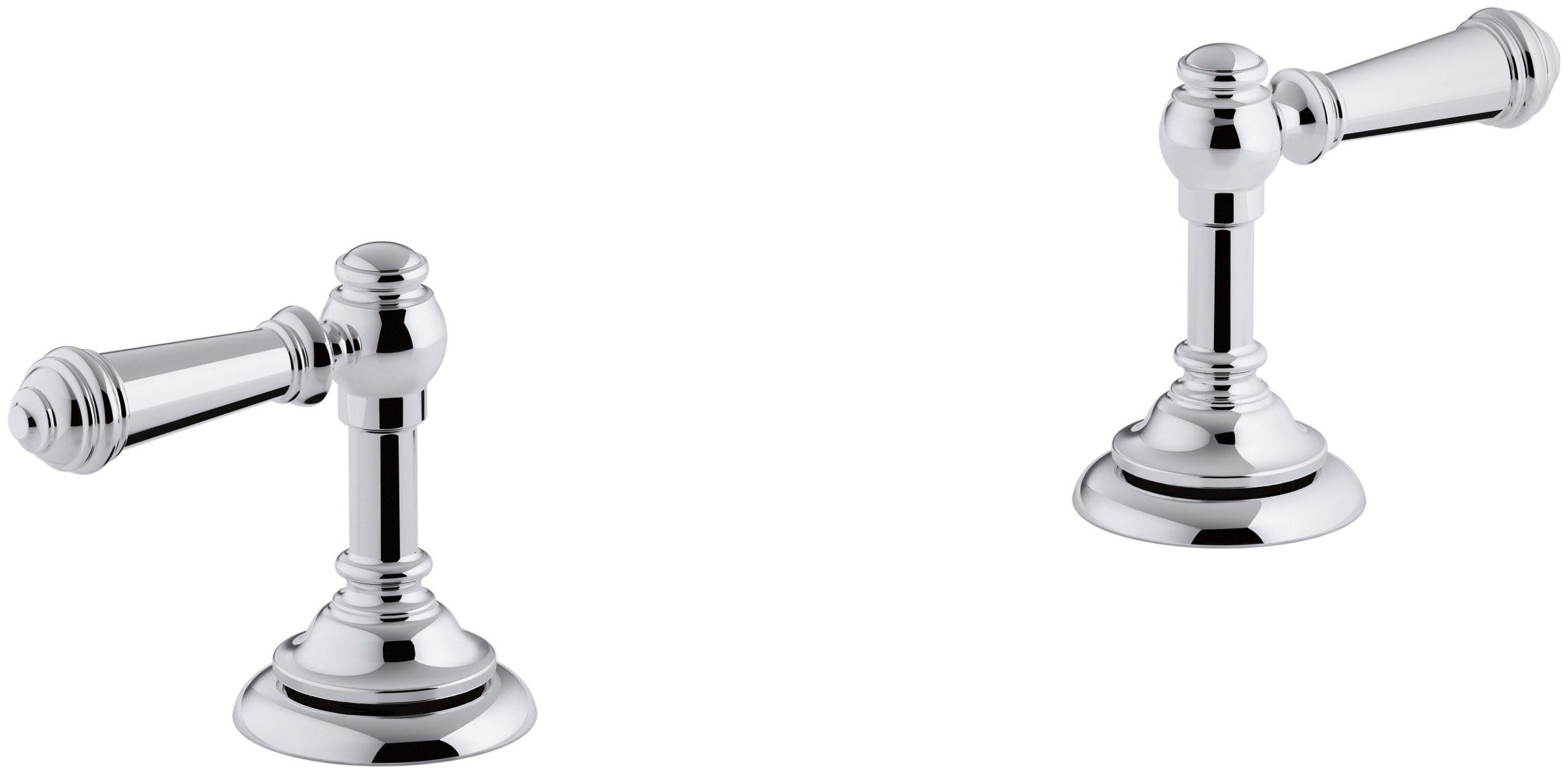 KOHLER K-98068-4-CP Artifacts Bathroom sink lever handles, Less Spout, Polished Chrome by Kohler