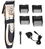 Pet Grooming Clippers,Dog Clipper with Low Noise Rechargeable Cordless Electric Trimmer Grooming