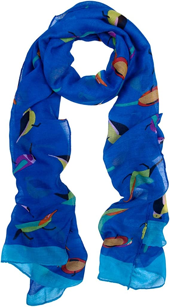 Women Birds Floral Printed Fashion Scarf Ladies Soft Wrap Long Shawl Scarves C