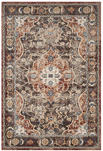 Safavieh Bijar Collection BIJ648D Traditional Oriental Vintage Brown and Rust Area Rug (3' x 5')