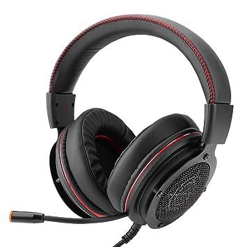 VBESTLIFE Auriculares Gaming Inalambricos Auriculares de Juego Luz LED Brillo Sonido Envolvente Profesional con Micrófono Omnidireccional