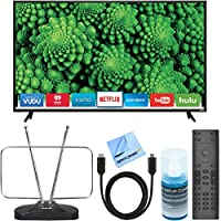 Vizio D55f-E2 D-Series 55 Full Array LED Smart TV + RCA ANT111Z HDTV and FM Antenna + 6ft. High-Speed HDMI Cable + Universal Screen Cleaner Bundle