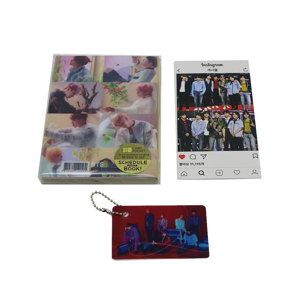 BTS Bangtan Boys 2019 Scheduler Schedule Book Planner Calendar with  Instagram Photo Card, Photo Card Key Chain