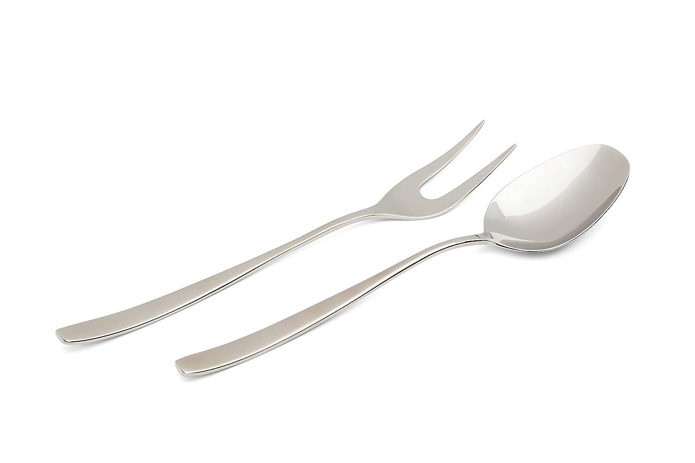 Villeroy & Boch / 18/10 Acero inoxidable / cuchara de alta calidad y tenedor / Serving Set / Diseño atemporal / acabado en espejo: Amazon.es: Hogar